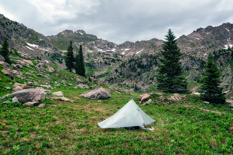 dispersed camping in the eagle's nest wilderness, colorado