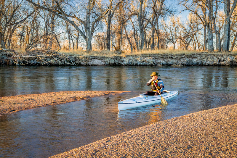 kayaking in the south platte river colorado