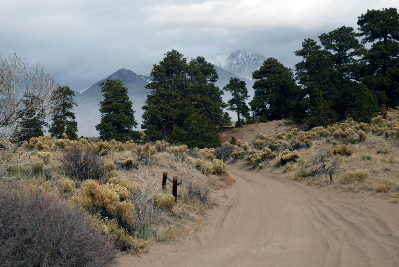 backcountry road in great sand dunes national park in colorado
