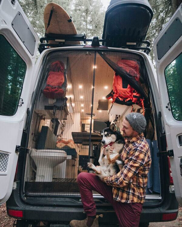 living in a campervan with a dog