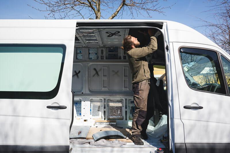 converting a van into a diy camper