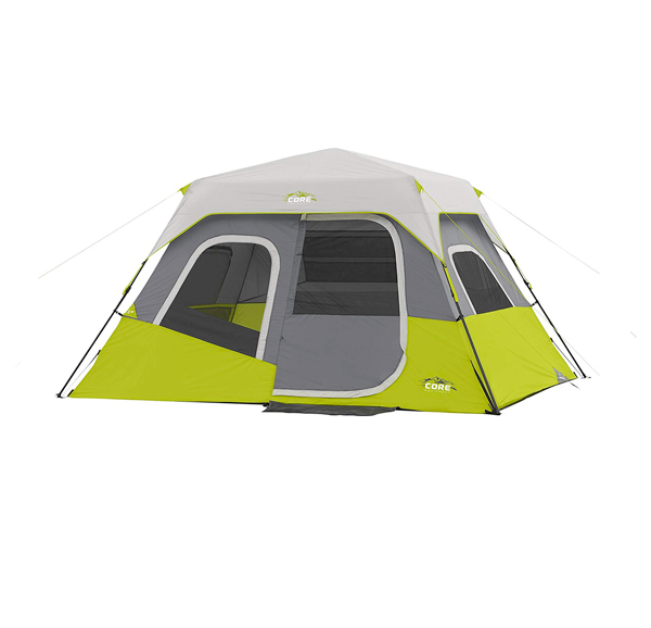 core 6 person instant camping tent