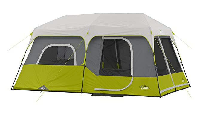 core 9 person large family camping tent