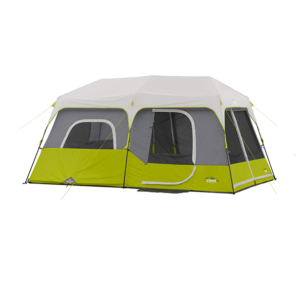 core 9 person instant cabin cinch tent
