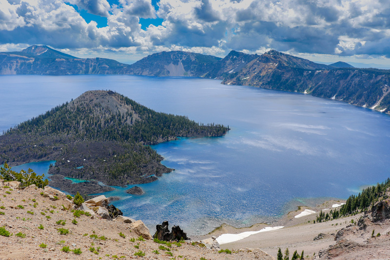 Hiking Trail In Crater Lake National Park Oregon