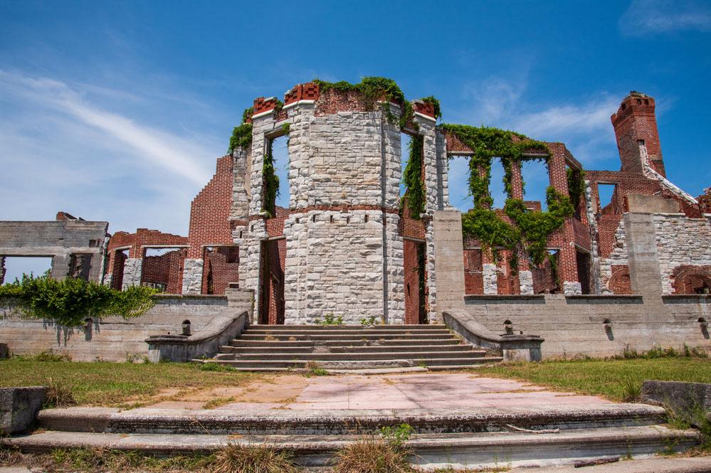 old ruins at the cumberland island national seashore in georgia