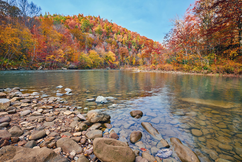 cumberland river at the big south fork national recreation area run by the park service