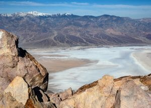 View From Dante's Point In Death Valley National Park
