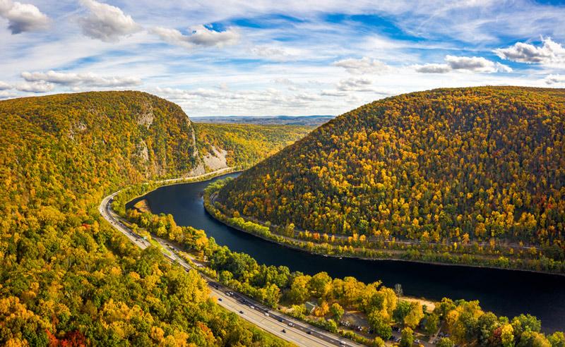 Delaware Water Gap National Park In Pennsylvania