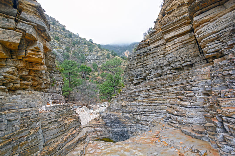 devils hall canyon hike in guadalupe mountains national park