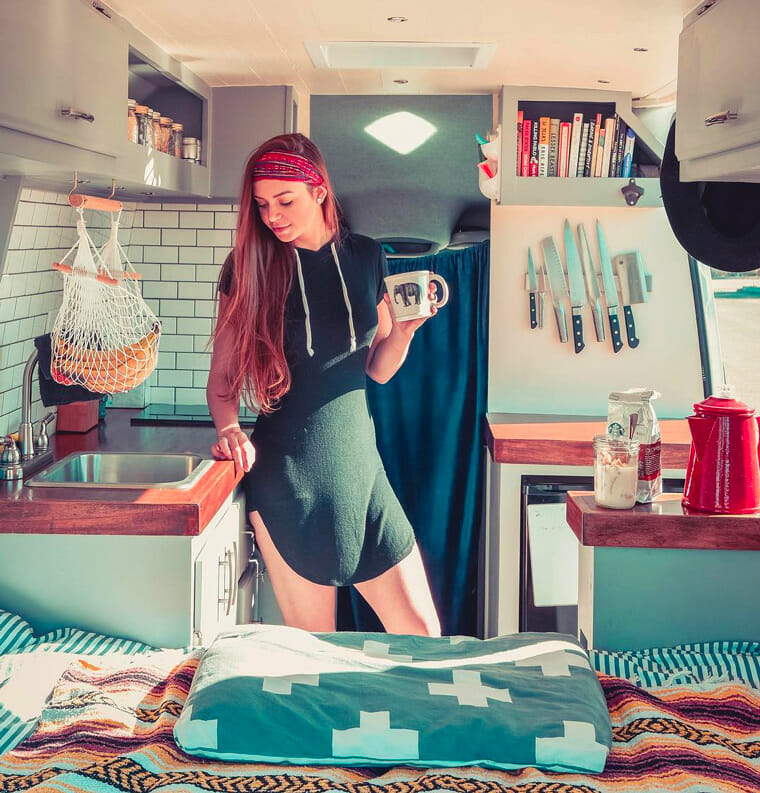 living in a campervan conversion build