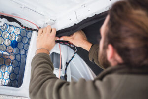 wiring electricity in a diy camper van conversion