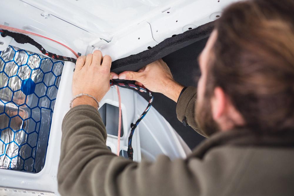 wiring electricity in a diy camper van conversion