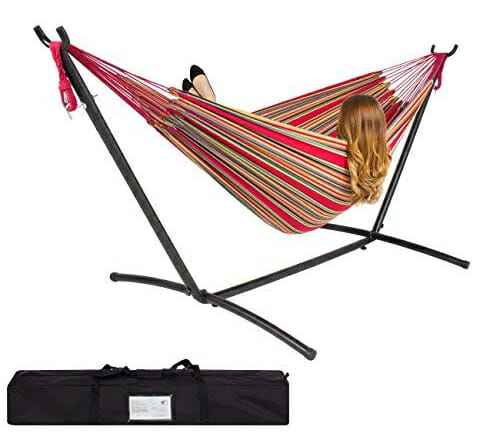 double hammock portable camping stand