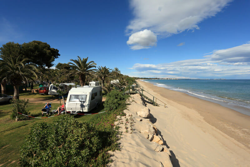 dry camping on a beach in an rv motorhome