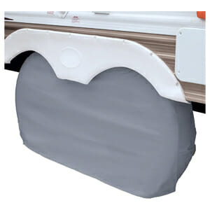 dual axle RV tire covers for camper trailers