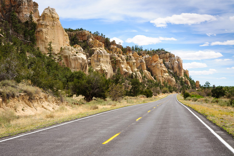 el malpais national park road in new mexico
