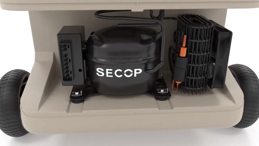 motor in a 3-in-1 electric cooler