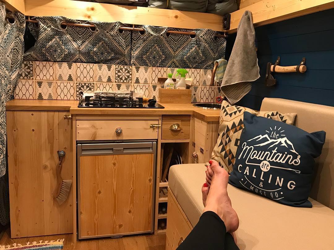 12v Electric heater in a camper van