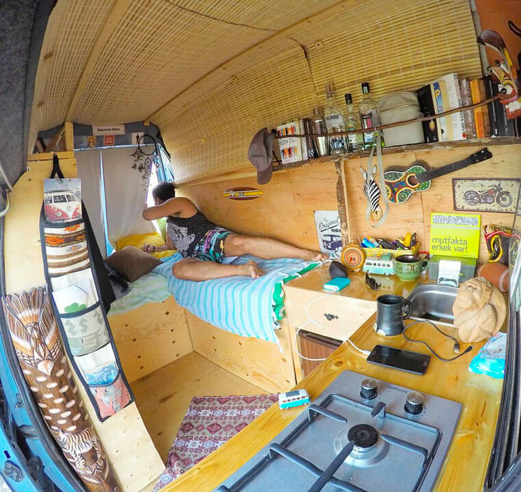living the van life in a camper van conversion