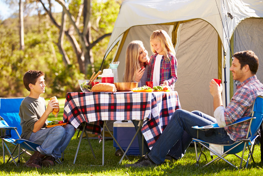 Family camping popup tent