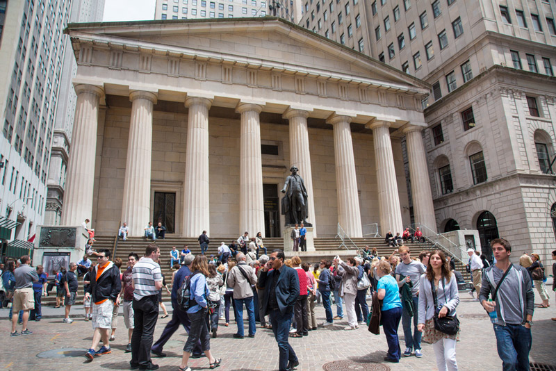 federal hall national memorial run by the national park service in new york city