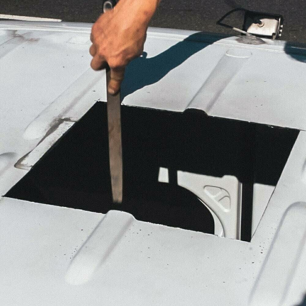Preparing a roof for a vent fan