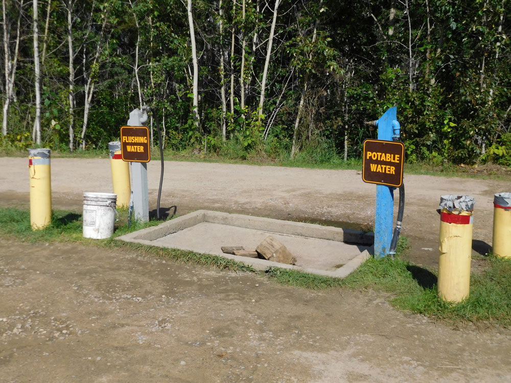 Finding a potable water refill station and RV dump station