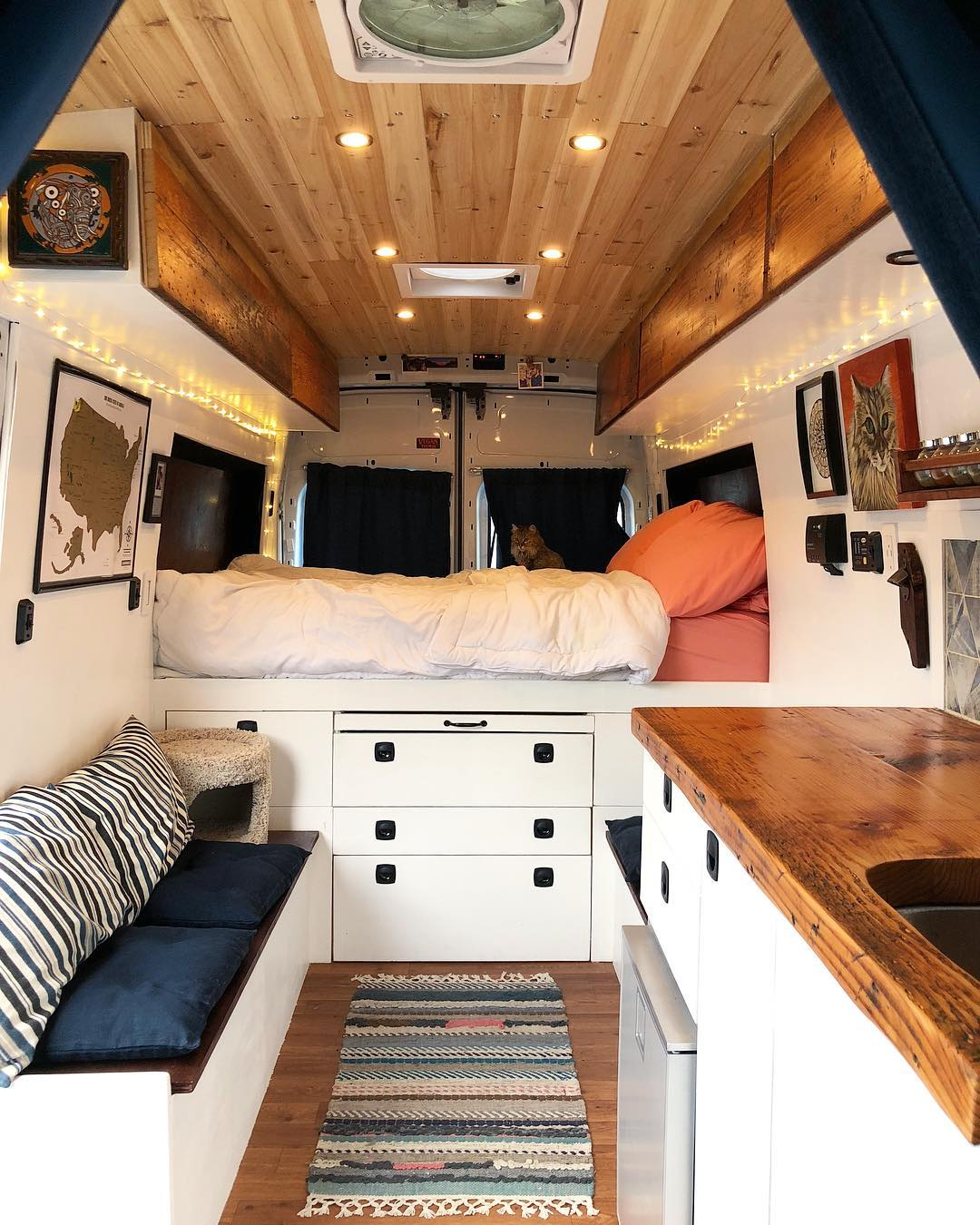 Living in a ford transit camper conversion