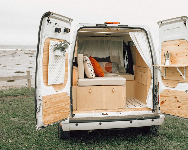 beautiful ford transit connect camper van build