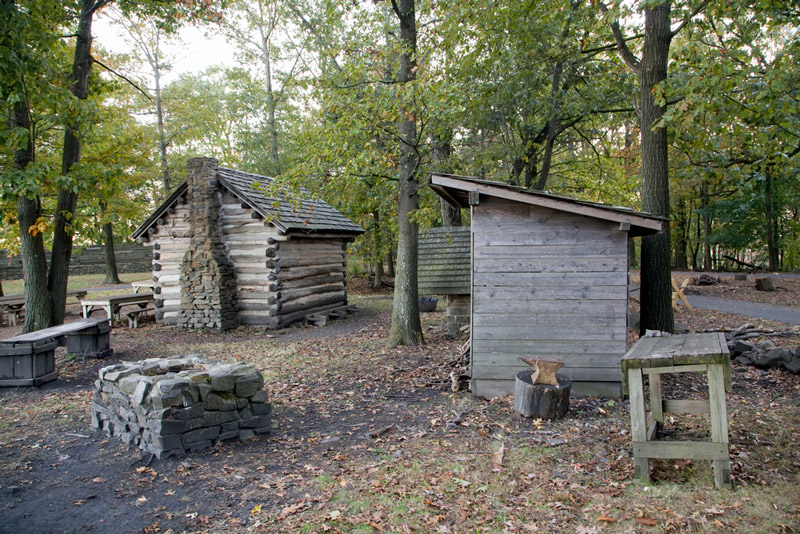 revolutionary war encampment at fort lee historic park at crossroads of the american revolution in new jersey