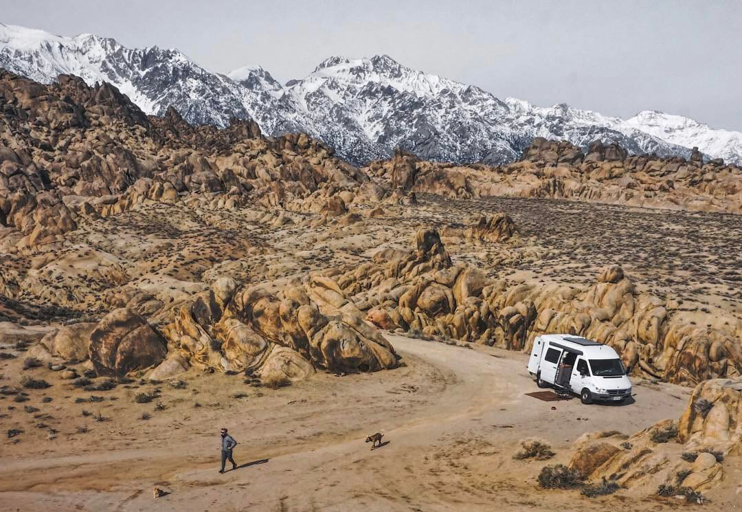 Free camping in the Alabama Hills California