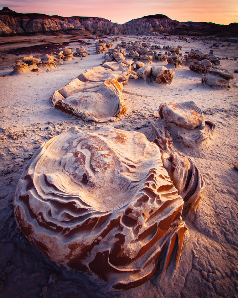 Free camping in the Bisti Badlands, New Mexico