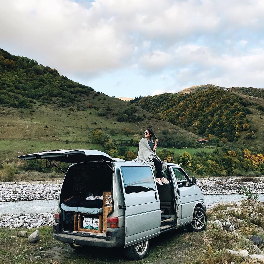 van life living in a minivan