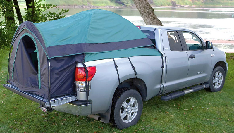 Gear guide full size truck tent