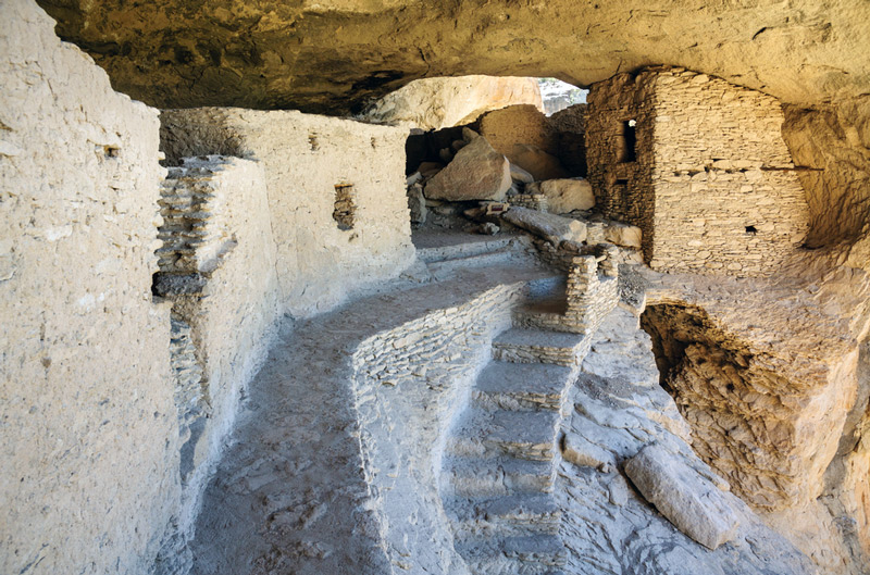 gila cliff dwellings in new mexico national park