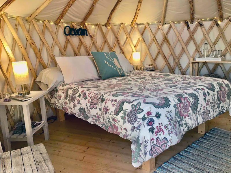 Glamping Yurt In Acadia Maine
