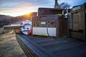 Goal zero portable solar power station for camping