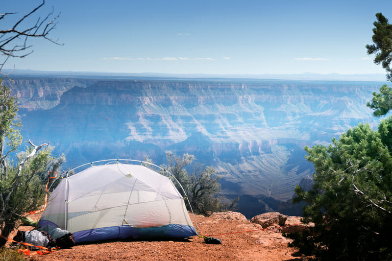 tent camping at the grand canyon national park