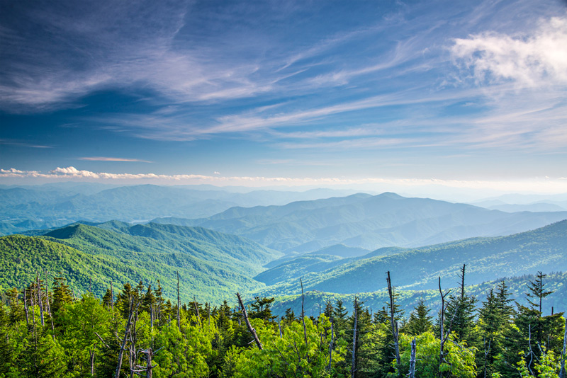 Endless Mountain Ridgelines In The Great Smoky Mountains National Park