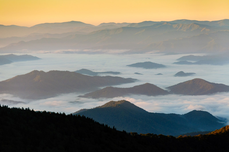great smoky mountains national park in tennessee