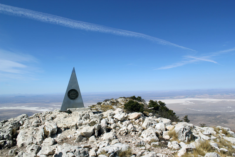 hiking to the summit of guadalupe peak you reach a pyramid called signal peak