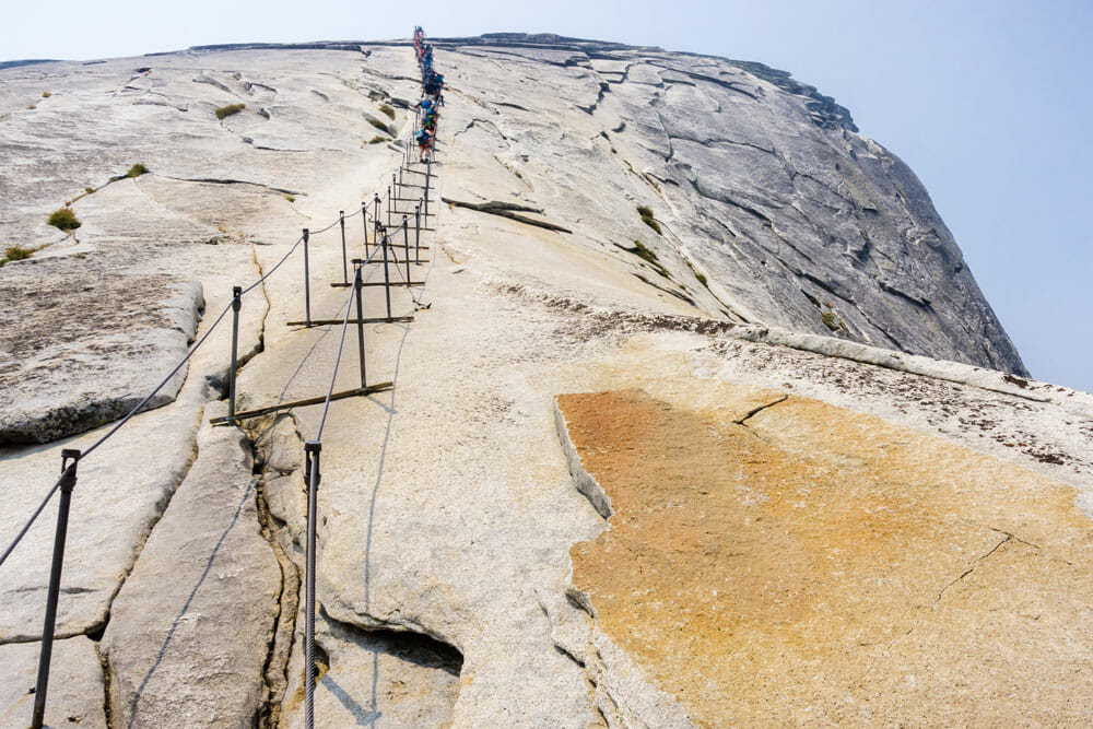 The Cables on Half Dome at Yosemite National Park