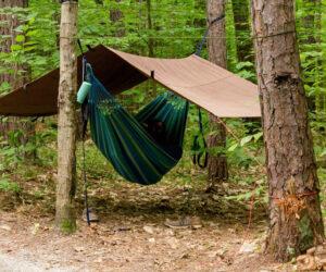 Camping With A Hammock Rain Fly Tarp