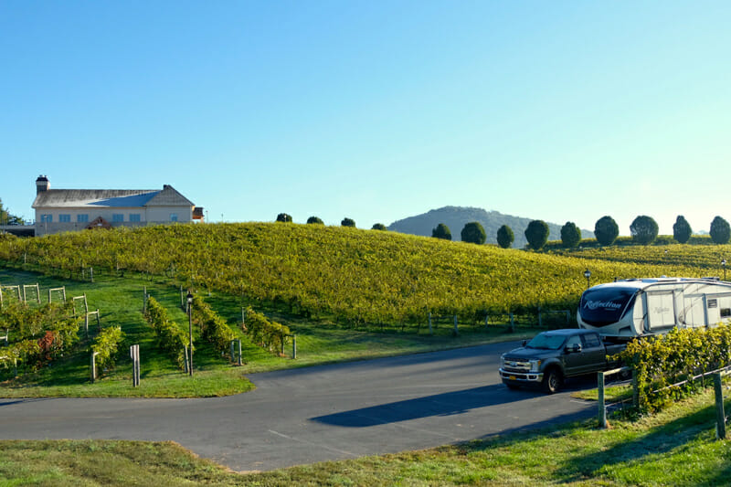 Harvest Hosts is an RV membership club where you can park overnight at vineyards, farms and golf courses