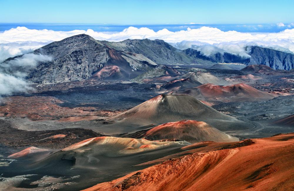 volcano in haleakala national park hawaii