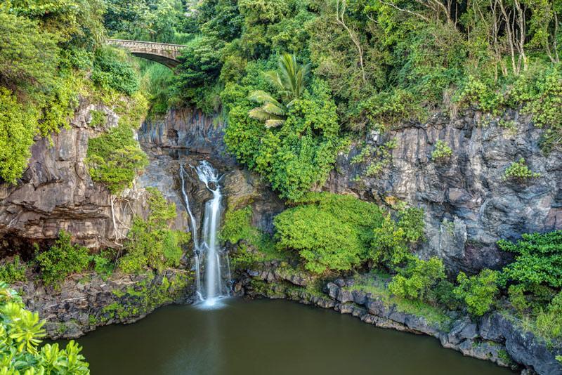 Oheo Gulch in haleakala national park hawaii