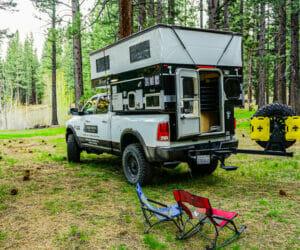 Hawk Truck Camper At The Campground