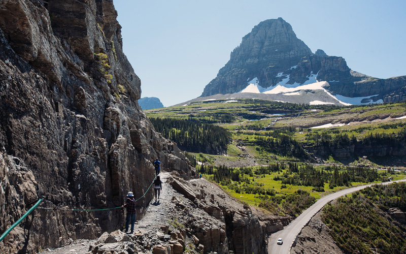 Hiking Along The Highline Trail In Glacier National Park