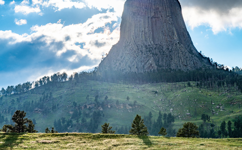 hiking the base of devil's tower national monument